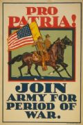 Vintage American World War Recruiting Poster